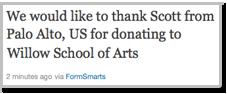 Online Donation Twitter