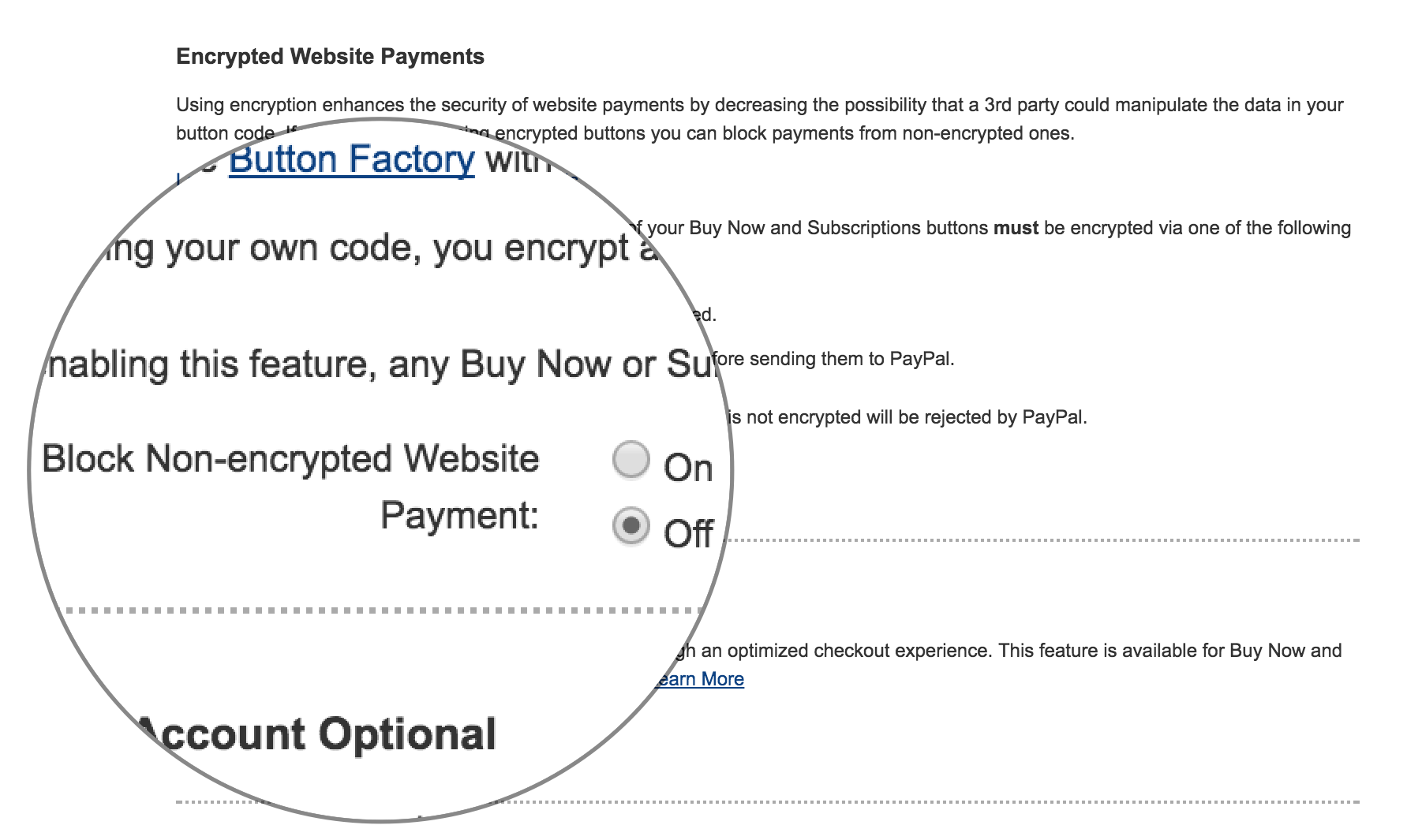 Encrypted Website Payments - PayPal Settings